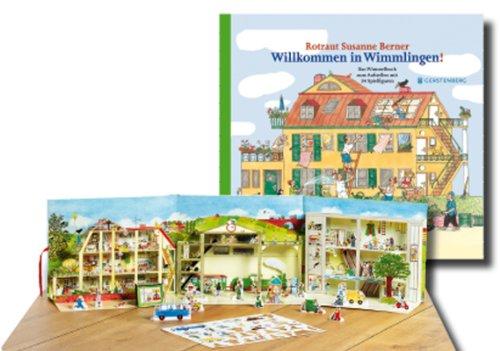 Willkommen in Wimmlingen - Das Wimmelbuch zum Aufstellen, mit 34 Spielfiguren, 3 Szenen - von Rotraut Suanne Berner