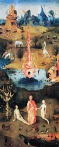 Hieronymus Bosch: Der Garten der Lüste, linker Flügel – Die Schöpfung, um 1500