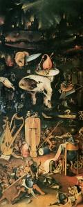 Hieronymus Bosch: Der Garten der Lüste, rechter Flügel – Die Hölle, um 1500