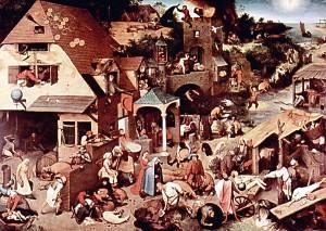 Pieter Bruegel der Ältere: Die niederländischen Sprichwörter, 1559