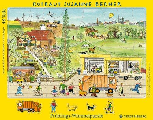 Wimmel-Rahmenpuzzle Frühling von Rotraut Susanne Berner