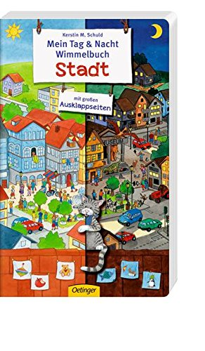 Mein Tag & Nacht Wimmelbuch Stadt von Kerstin Schuld