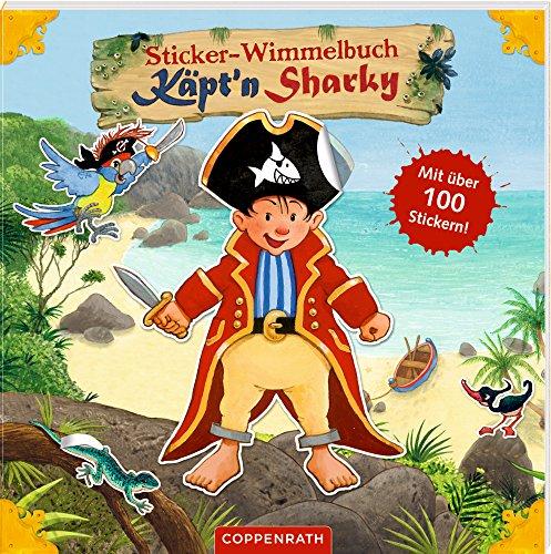 Sticker-Wimmelbuch Piraten – Käpt'n Sharky mit 100 Stickern