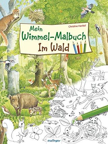 Wimmel-Malbuch im Wald von Christine Henkel