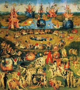 Hieronymus Bosch: Der Garten der Lüste, Mitteltafel – Der Garten der Lüste, um 1500