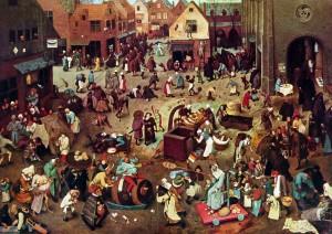 Pieter Bruegel der Ältere: Streit des Karnevals mit der Fastenzeit, 1559