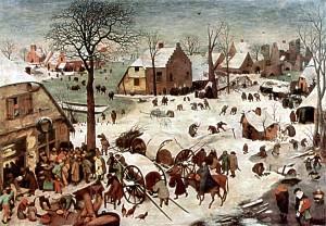 Pieter Bruegel der Ältere: Volkszählung zu Bethlehem, 1566