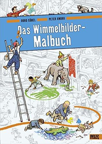 Das Wimmelbilder-Malbuch von Doro Göbel und Peter Knorr